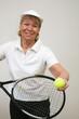 Frau beim Tennis 14
