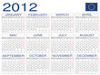calendario 2012 Europa