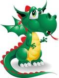 Fototapety Drago Cartoon-Dragon Cartoon-Vector