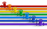 Rainbow pipelines with valves