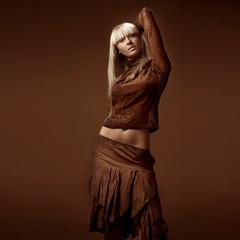 young scandinavian girl with long blond hair