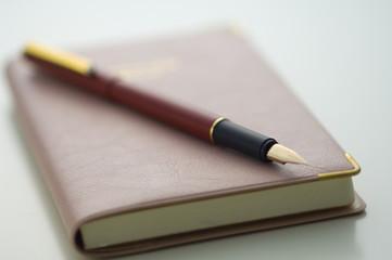 手帳とペ万年筆