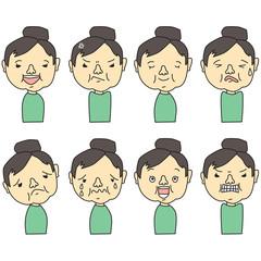 女性、表情