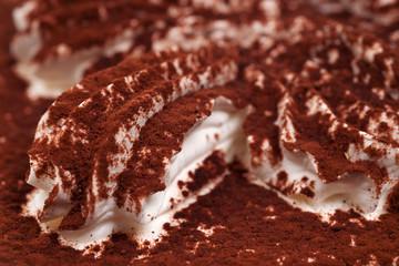 Tiramisu dessert close-up