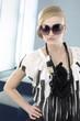 Portrait of fashion model in sunglasses