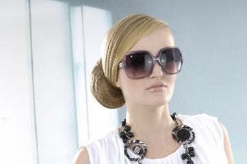 High fashion model in sunglasses