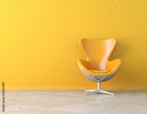 yellow interior copy space - 30033497