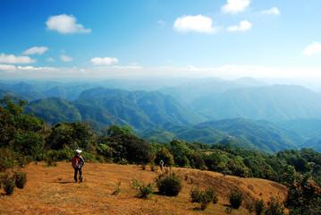 Trekking on the mountain