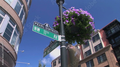 Pearl District street sign in Portland, Oregon