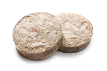 sliced headcheese sausage