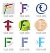 Ensemble d'Icones Lettre F pour Design Logos