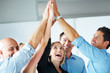 Teamwork and team spirit - Businesspeople celebrating success