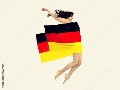 Ragazza con bandiera della germania immagini e - Bandiera della pagina di colorazione della germania ...
