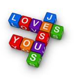 Fototapety Jesus loves you