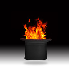 Flaming top hat