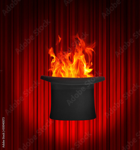 Fire inside top hat