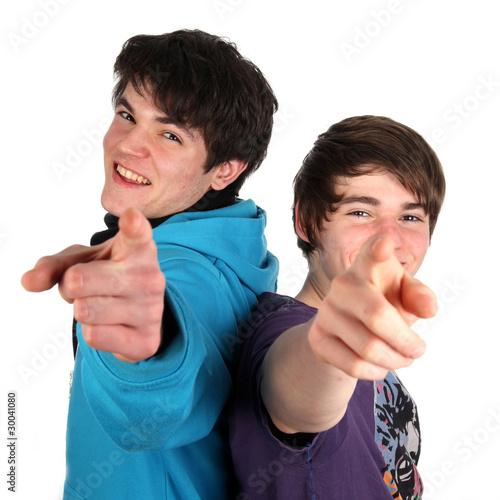 Zwei Zeigefinger