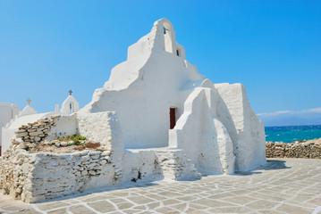 Mykonos white church