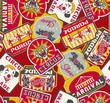 circus labels seamless pattern