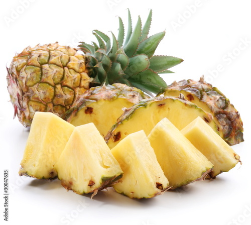 Cut pineapple.
