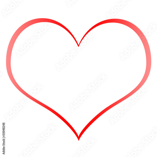 heart shape outline