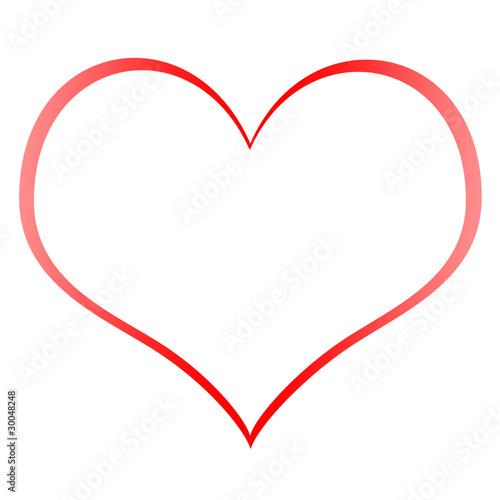 heart shape outline