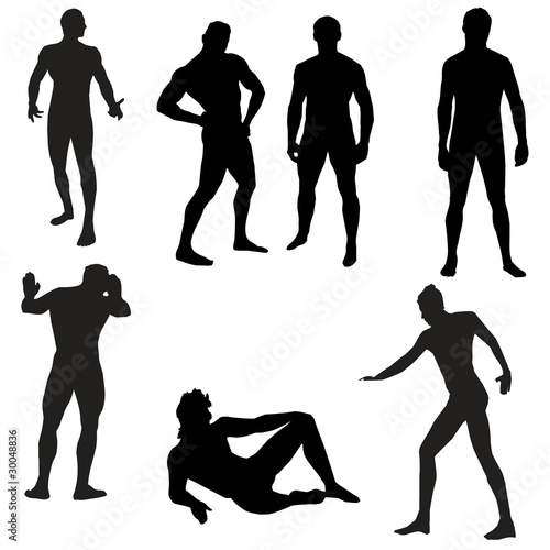 Silhouette Of A Male Stripper 40