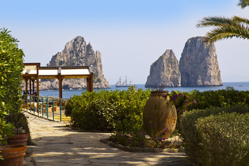 The Fariglioni Rocks of the Island of Capri in Southern Italy