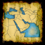Middle East old map poster