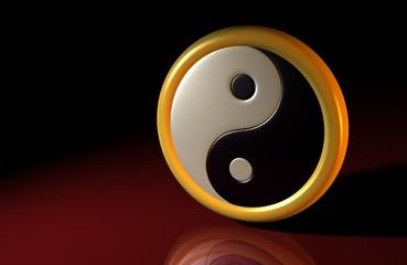 3D - Yin und Yang Symbol 01