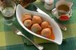 Corazones de alcachofa con salsa de calabaza y queso