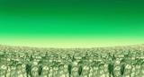 Green Money landscape prosperity in the horizon poster