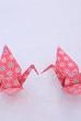 冬イメージの折り鶴