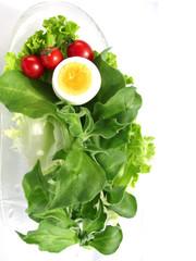アイスプラントとトマトとゆで卵1