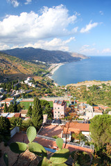 Coast of Sicily in Taormina, Italy
