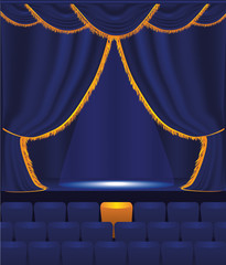 vector illustration of the empty cinema