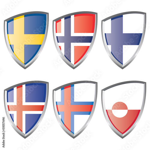 North Europe flags