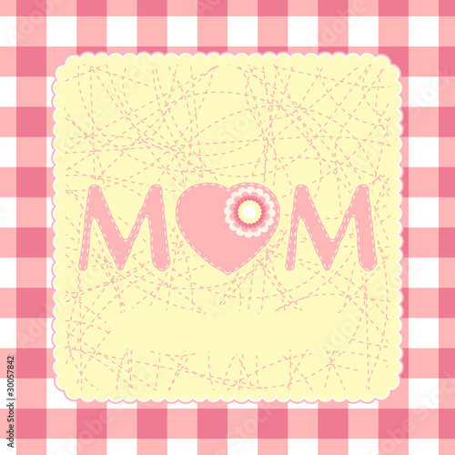 poster of 80s Style Mothers Day Card. EPS 8