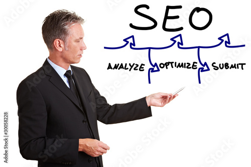 Consultant explaining SEO