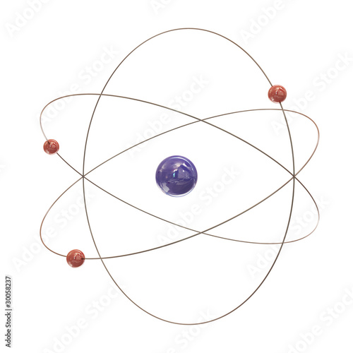 Electron paths around the nucleus