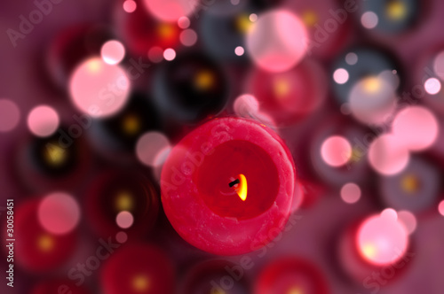 candles on a blurred background