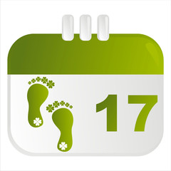 st. patrick's day calendar icon