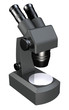 A microscope 3D render on white background