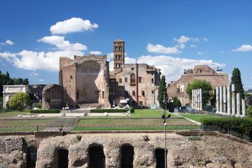 Rome, famous Roman Forum in Italy