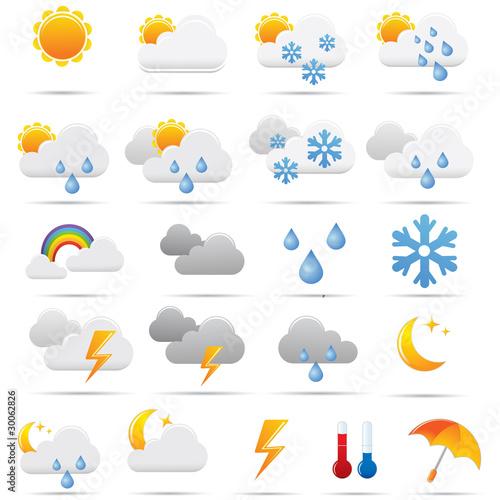 Pictos météo pour le web. Picto weather