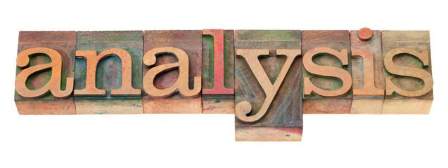 analysis word in letterpress type