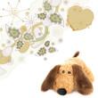 brauner hund - konzept geburt