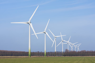 Dutch rural landscape with windturbines