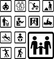 Set icons - 178B. Pictographs of people
