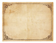 canvas print picture - Blank Vintage Paper With Antique border
